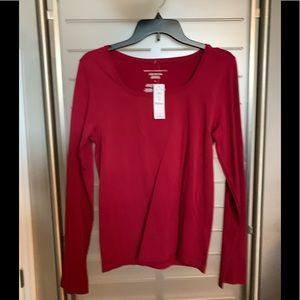 Whitehouse Blackmarket Red Long sleeve top